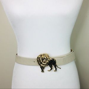 Accessories - Gold Lion Buckle Belt